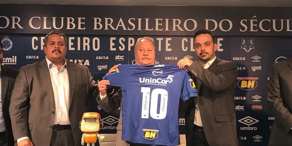 c97ab34b5e Cruzeiro apresenta novo parceiro e celebra lucro de patrocínio maior ...