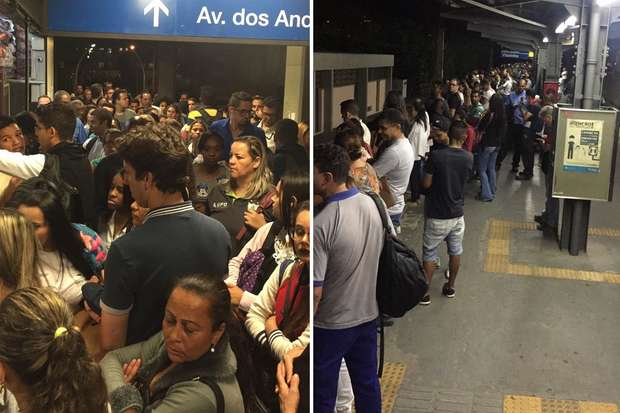metrô lotado