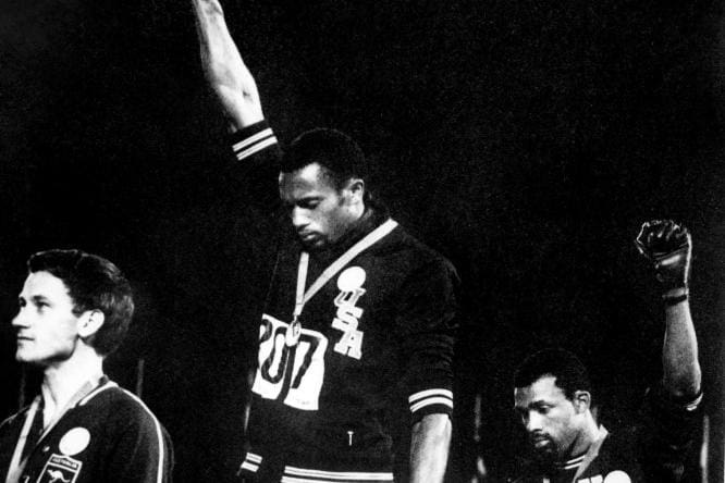 FILES-ATHLETICS-AUS-USA-RIGHTS-RACISM-NORMAN