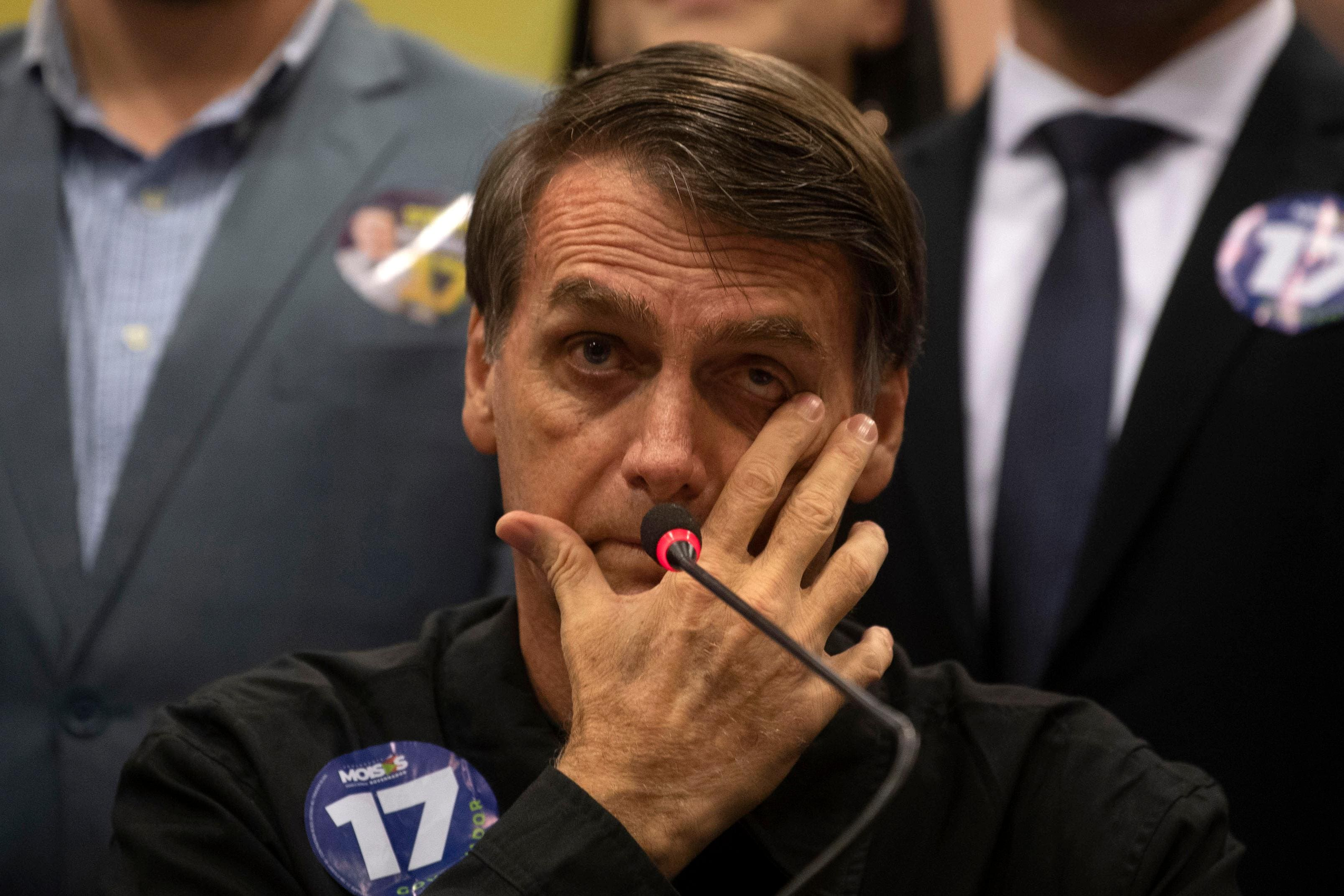 Jair Bolsonaro concede entrevista coletiva no Rio de Janeiro