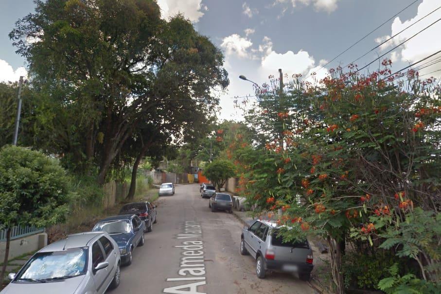 Rua onde ocorreu o crime