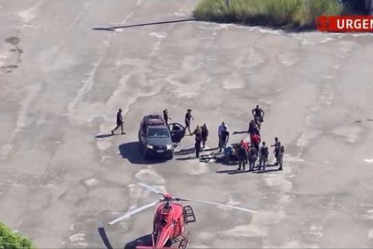 Queda de helicóptero no Rio