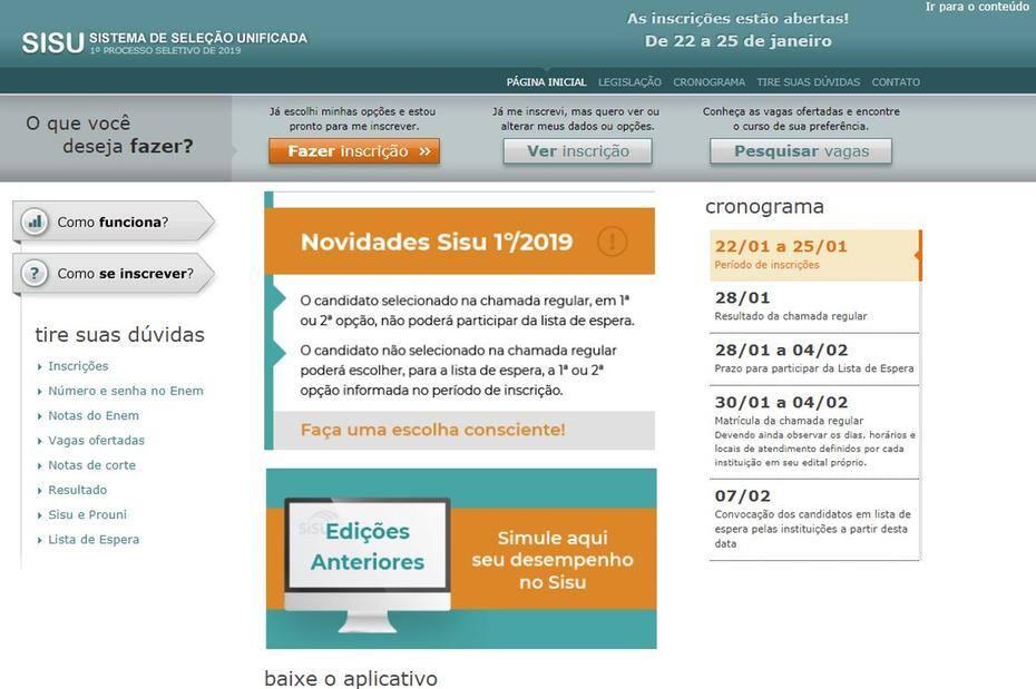 ca6e6c8ae Está mantido que o prazo final para as inscrições vai até as 23h59 de  sexta-feira (25) pelo horário Brasília