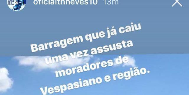 Thiago Neves usa tragédia de Brumadinho para provocar Galo  ea1ee08bfed24