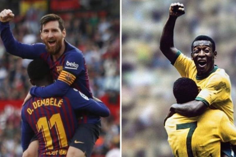 Resultado de imagem para Messi pelé