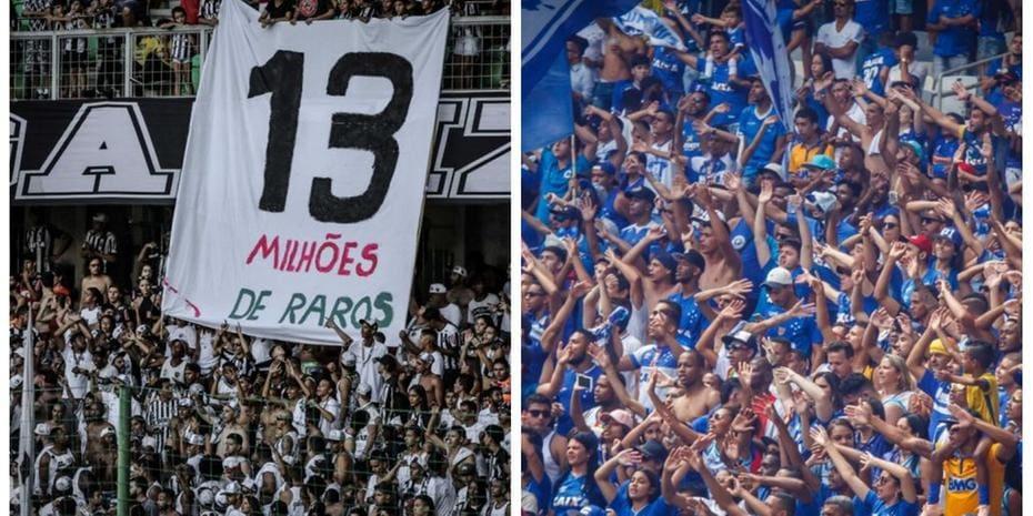 Galo em 5º e Cruzeiro em 7º  Ranking dos times com mais sócios ... 27c22289ee063
