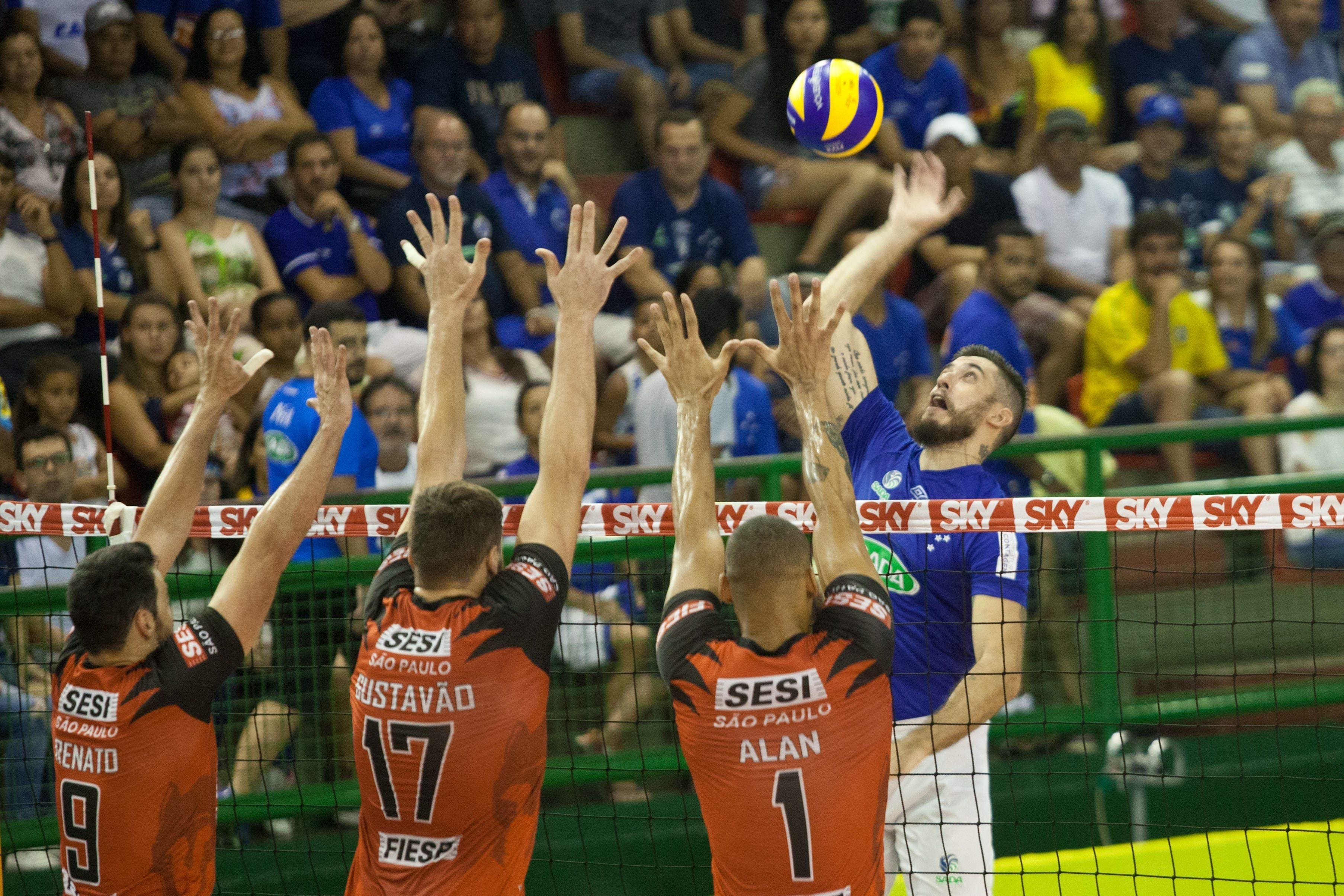 Sada Cruzeiro volta a perder para o Sesi-SP e deixa escapar a liderança