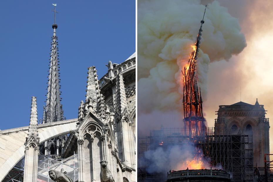 Resultado de imagem para Incêndio- Catedral de Notre Dame