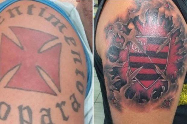 Ex Vascaíno Cobre Tatuagem Com Escudo Do Clube Pelo Do