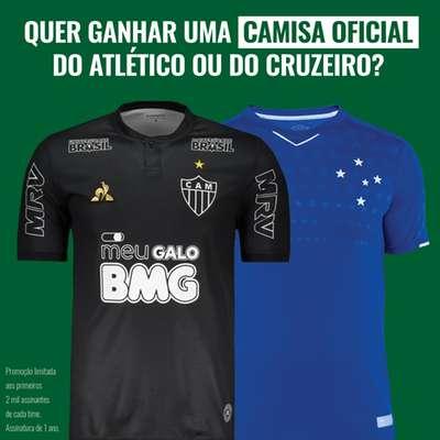 Assine O TEMPO digital e ganhe uma camisa do Atlético ou do Cruzeiro. Saiba como.