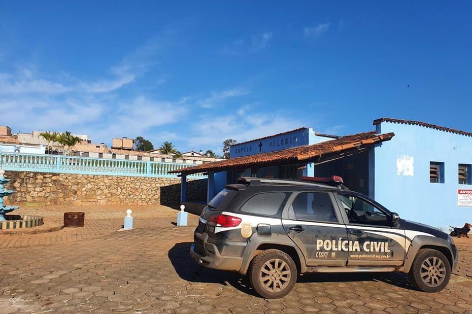 Uma viatura da Polícia Civil esteve no velório para apuração do crime