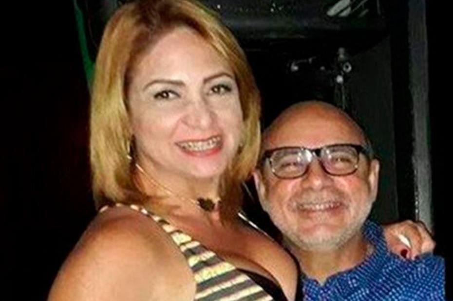 Márcia Oliveira e o marido Fabrício Queiroz, que foi preso no dia 18 de junho
