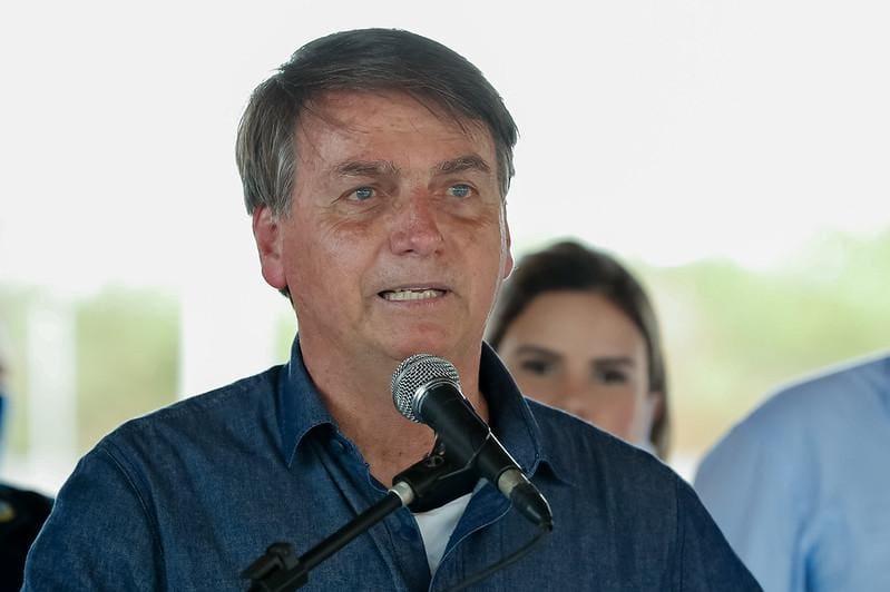 Bolsonaro em anúncio no Rio Grande do Norte, onde esteve nesta quinta-feira