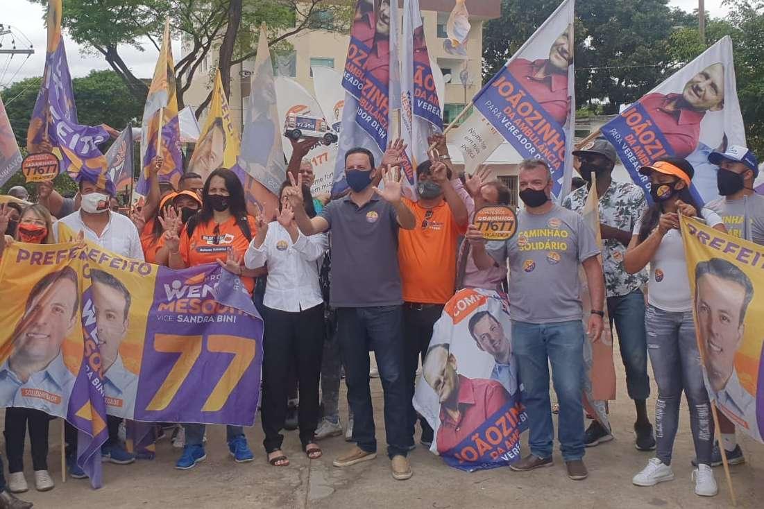 Candidato Wendel Mesquita fez caminhada pelo bairro Santa Terezinha