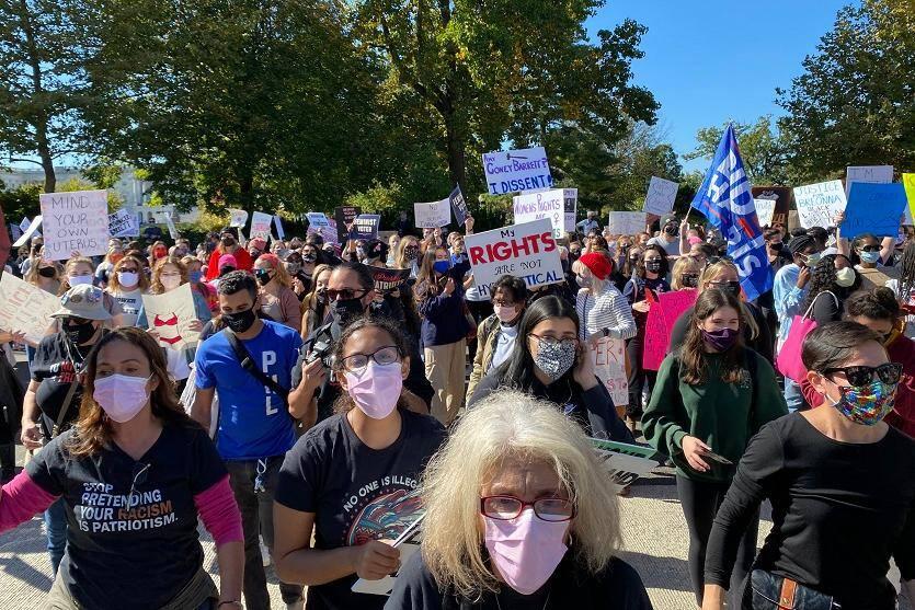 Protesto em Washington contra Donald Trump