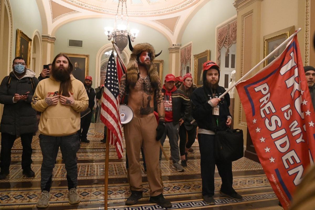Protestos no Congresso americano