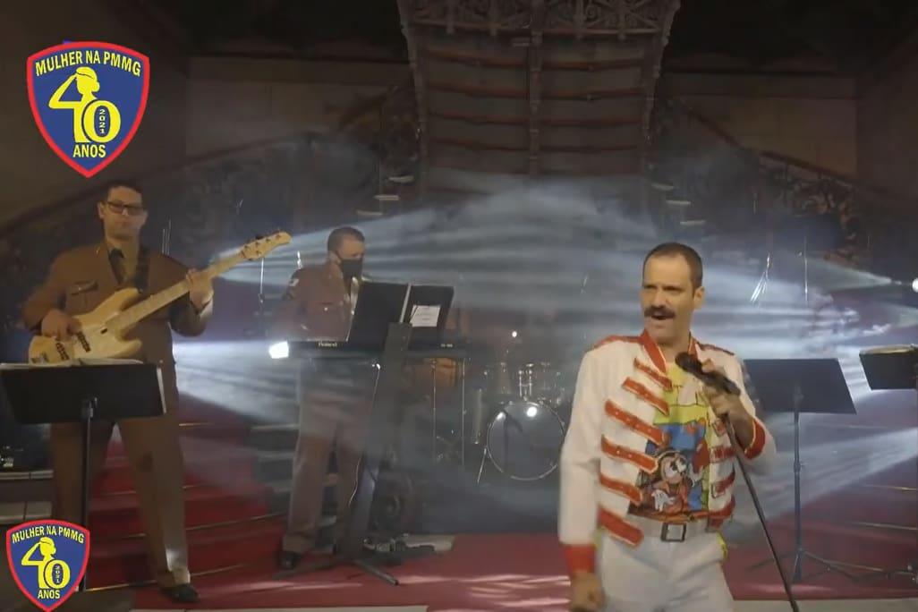 Banda da PMMG faz cover do Queen no Palácio da Liberdade