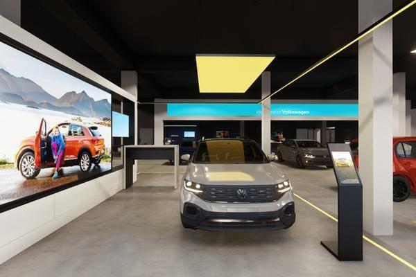 Imagem projetada da nova concessionaria VW que o Carbel Auto Group inaugura no bairro Prado até o fim deste ano
