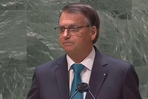 Jair Bolsonaro durante Assembleia Geral da ONU