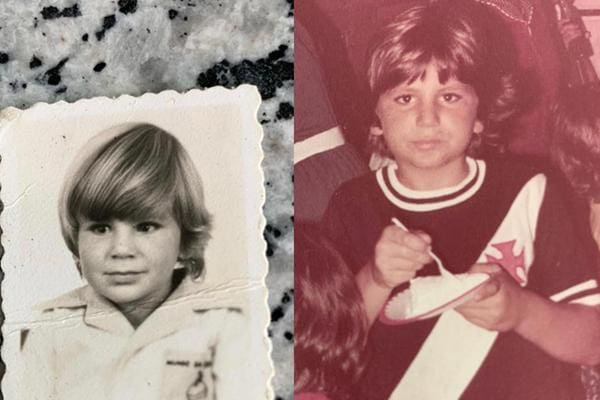 Eduardo Paes (PSD), prefeito do Rio, em imagens quando criança