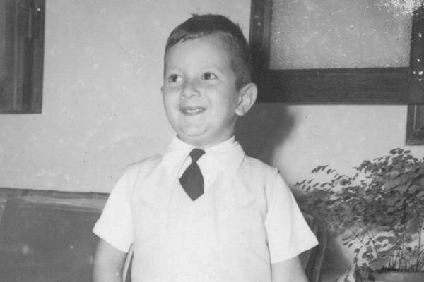 Fernando Collor de Mello, ex-presidente da República e senador, em imagem quando criança