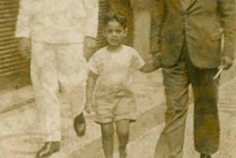 Fernando Henrique Cardoso, ex-presidente da República, em imagem quando criança