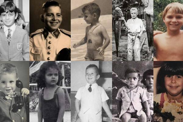 Use as setas laterais para navegar pelas imagens de infância de algumas das principais personalidades políticas do país