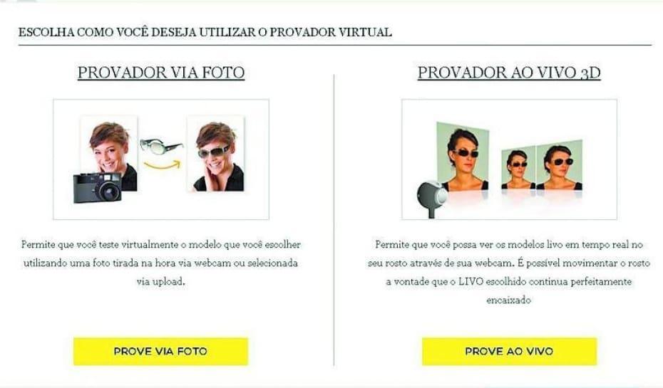 f136f236dfba5 Empresa cria provador virtual e vende óculos pela internet