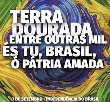 Resultado de imagem para 7 DE SETEMBRO - INDEPENDENCIA DO BRASIL - CARTAZES COM FRASES