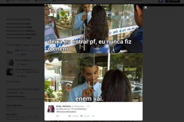 3c4761c90b8e3 Atrasados do Enem viram memes nas redes sociais   JORNAL O TEMPO