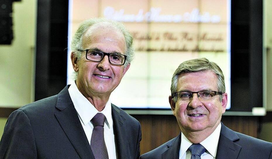 12db2af88 Werner Rohlfs, diretor da WR Construtora e Rui Marinho, fundador e  presidente do Hospital de Olhos Rui Marinho