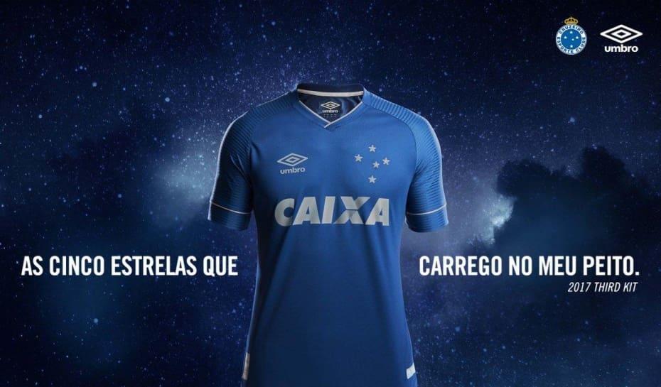Cruzeiro e Umbro divulgam nova camisa alternativa para a temporada ... 62fb93cbffc13