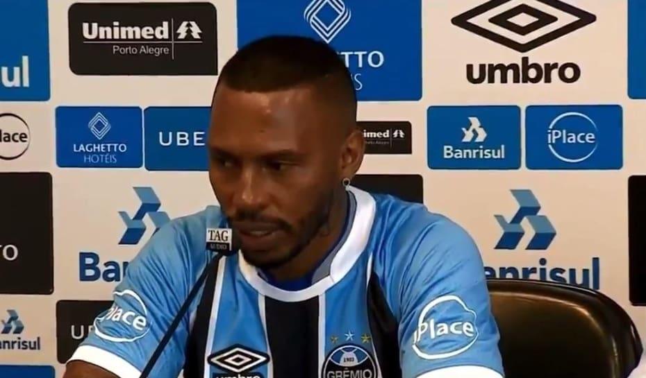 Paulo Miranda comete gafe e chama Grêmio de  Inter  em apresentação ... 4150b7aef0ba