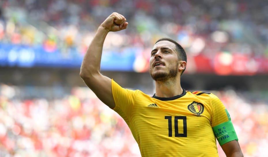 Eden Hazard fez dois dos cinco gols da Bélgica contra a Tunísia 78a33af0c97c6