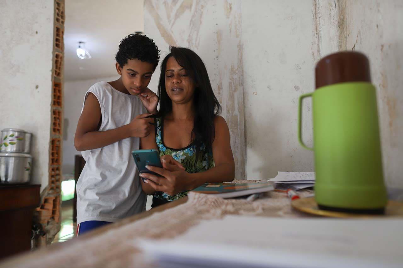Ana Luiza e seu filho Lucas