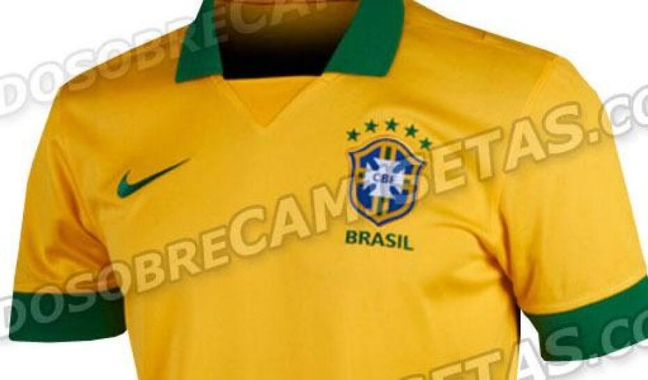 Vaza na internet suposta camisa da Seleção Brasileira para a Copa ... 9545376bf7895