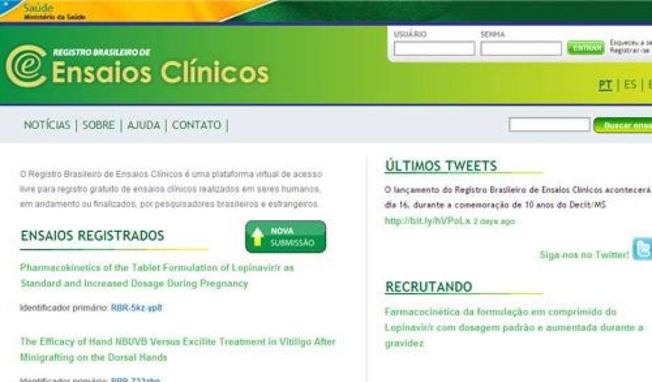 639874c51 Pelo site o internauta tem informações sobre pesquisas em andamento e pode  se candidatar
